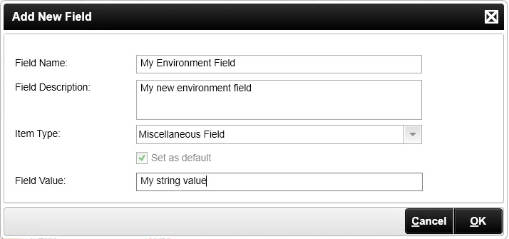 The Add New Field Dialog