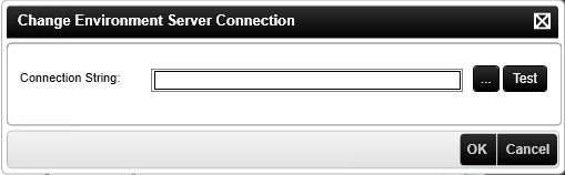 The Change Environment Server Connection Dialog