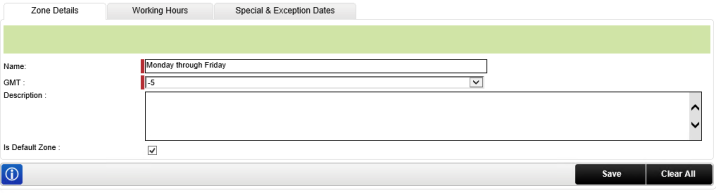 The Working Hours Configuration Interface