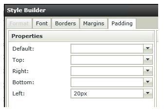 Image of a portion of the K2 Smartforms Style Builder form